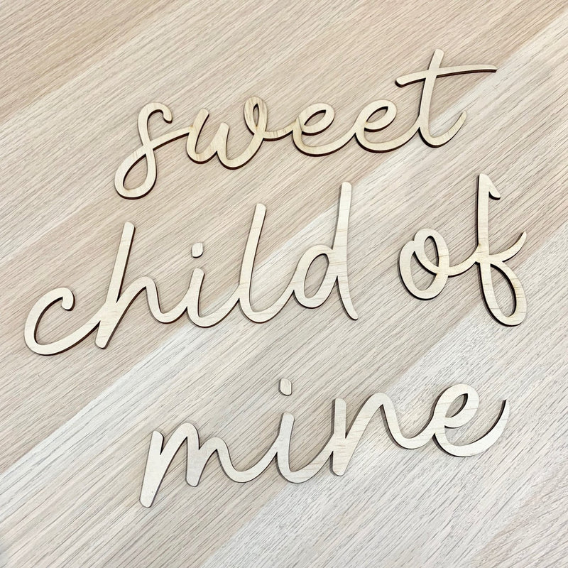 "Wall Script - ""Sweet Child Of Mine"""