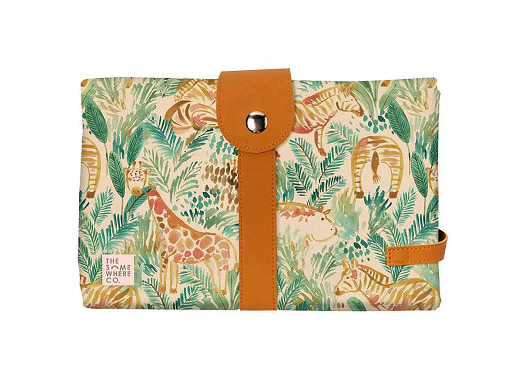 The Somewhere Co. Baby Travel Change Mat - Jungle Safari