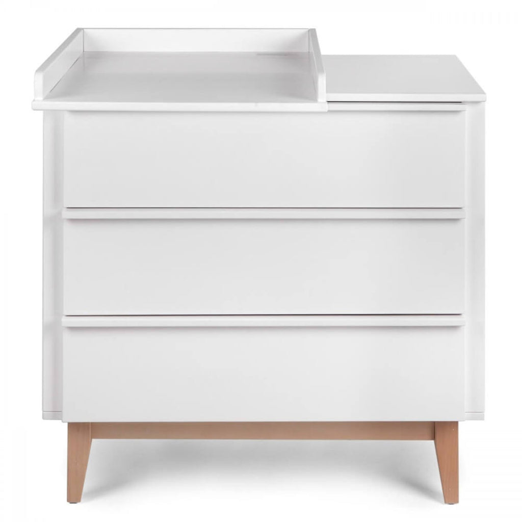 Troll Scandy Dresser - White with Natural Legs