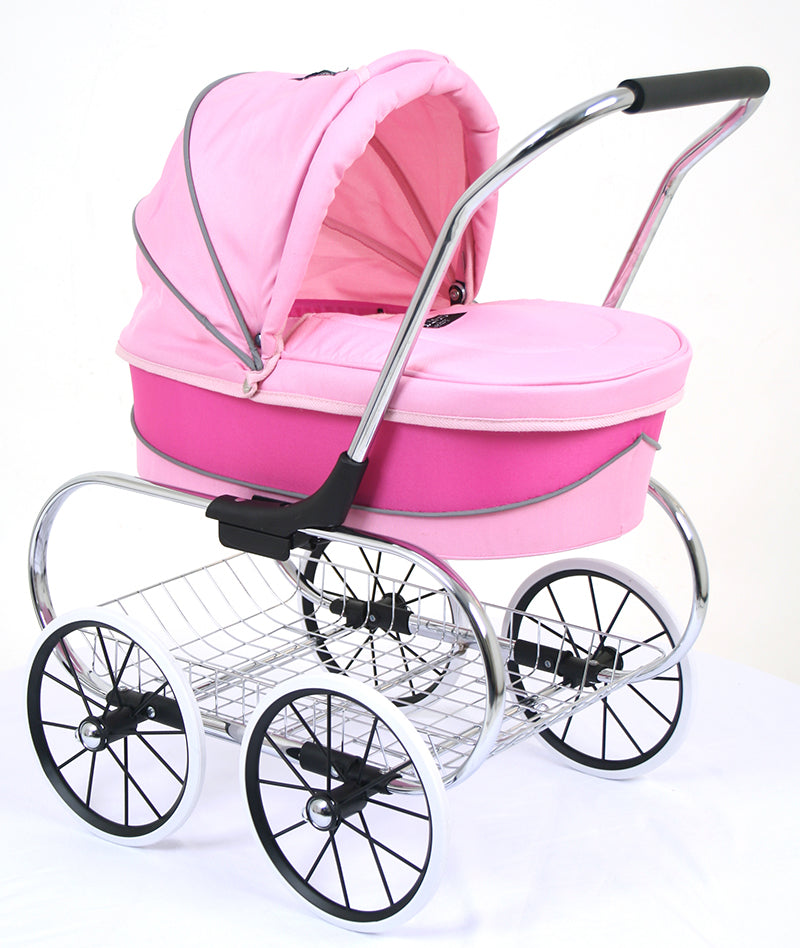Valco Baby Just Like Mum - Princess Dolls Pram - Hot Pink