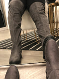 """Slate"" over the knee boots"