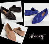 """Stoney"" Pointy  toe flat suede loafers"