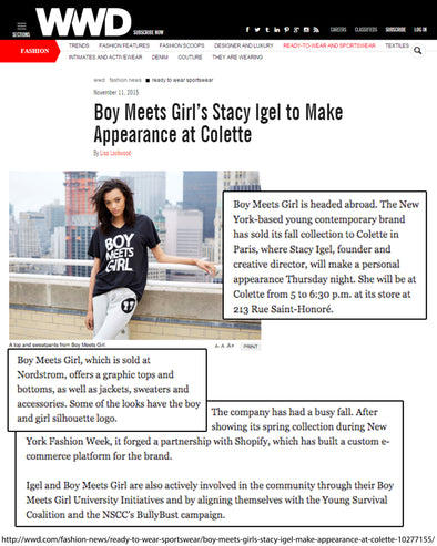 WWD covers our launch @colette in Paris