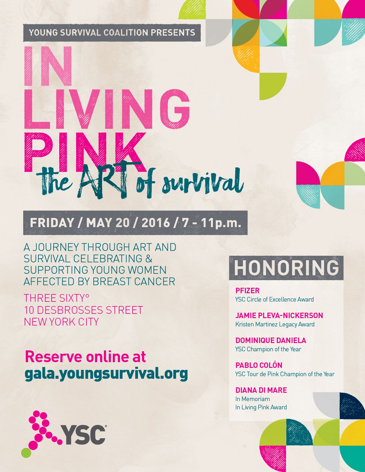 IN LIVING PINK GALA 2016