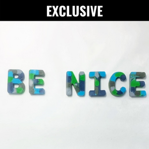 BOY MEETS GIRL® x Cre8ive Crayonz BE NICE Blue, Green, & Grey Camo Exclusive Set