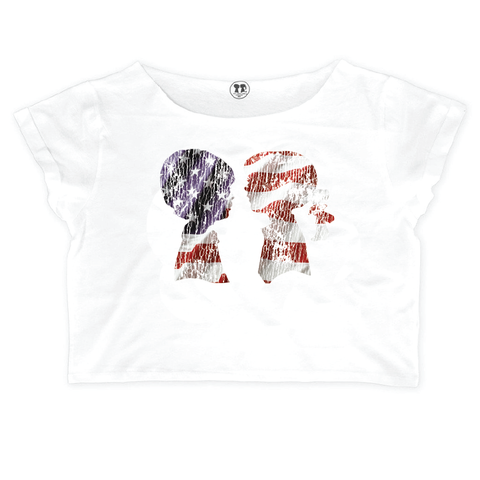 AMERICANA Oversized Crop Box Tee