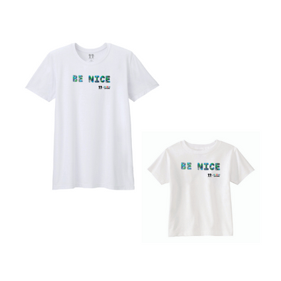 BOY MEETS GIRL® x Cre8ive Crayonz White BE NICE Adults & Kids Unisex T-Shirt