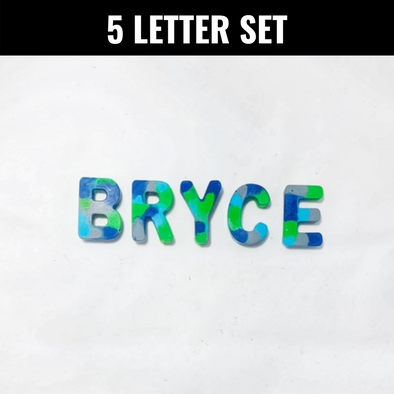 BOY MEETS GIRL® x Cre8ive Crayonz 5 Custom Letters Set