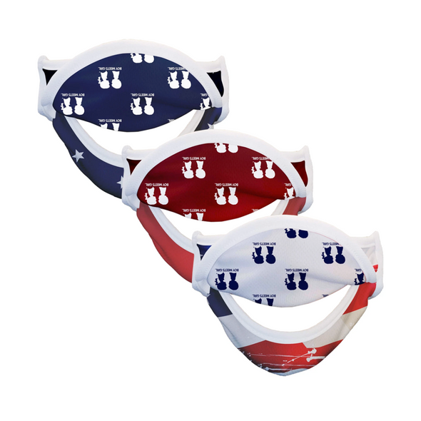 BOY MEETS GIRL® Americana Drinking Mask 3-Pack