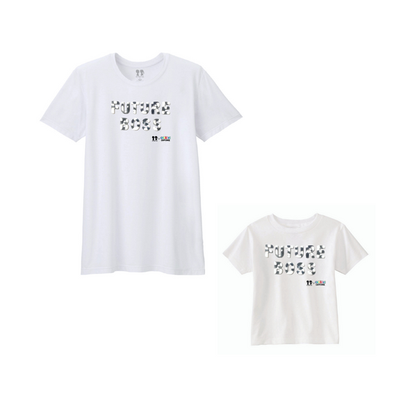 BOY MEETS GIRL® x Cre8ive Crayonz White FUTURE BOSS Black & White Font Adults & Kids Unisex T-Shirt