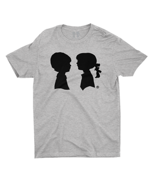 BOY MEETS GIRL® Heather Grey Unisex Tee with Black Logo