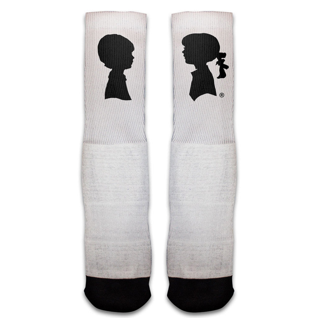 BMG Logo Socks (White/Black)