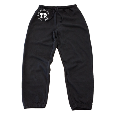 BOY MEETS GIRL® in New York Black Classic Sweats