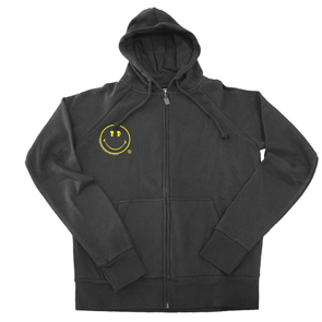 BOY MEETS GIRL®️ BLACK LABEL X SMILEY®️ ORIGINALS Zip Hoodie
