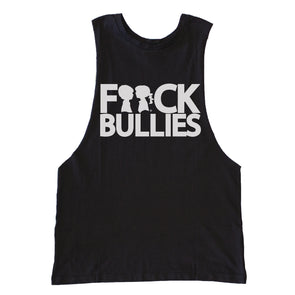 BOY MEETS GIRL® F**ck Bullies Black Drop Armhole Tank Top
