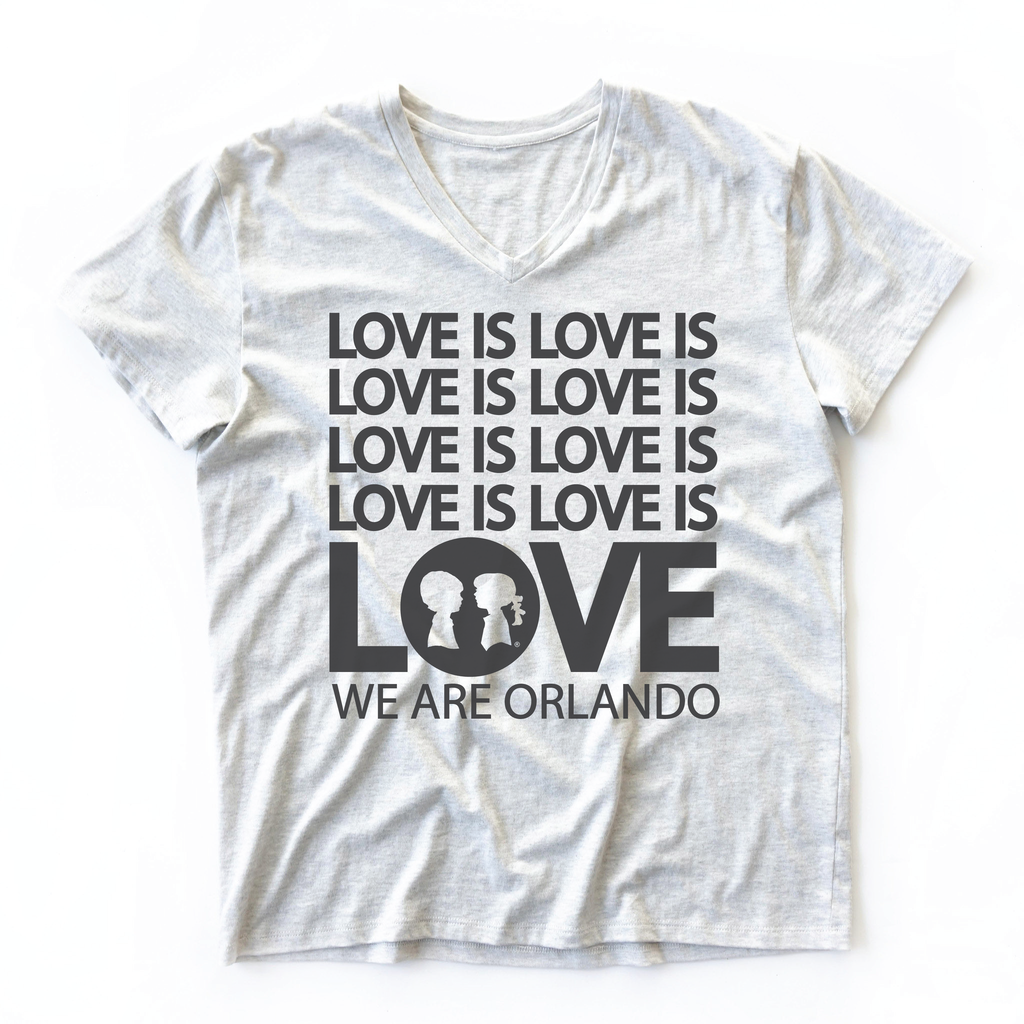 LOVE IS LOVE V-Neck Oversized BoyFriend Fit Tee