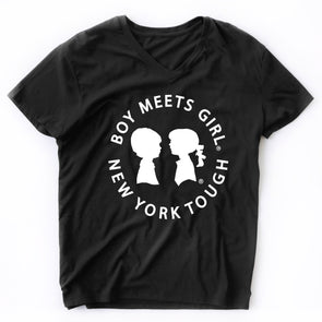 BOY MEETS GIRL® New York Tough V-Neck Black Tee