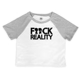 Fuck Reality Raglan Crop Top