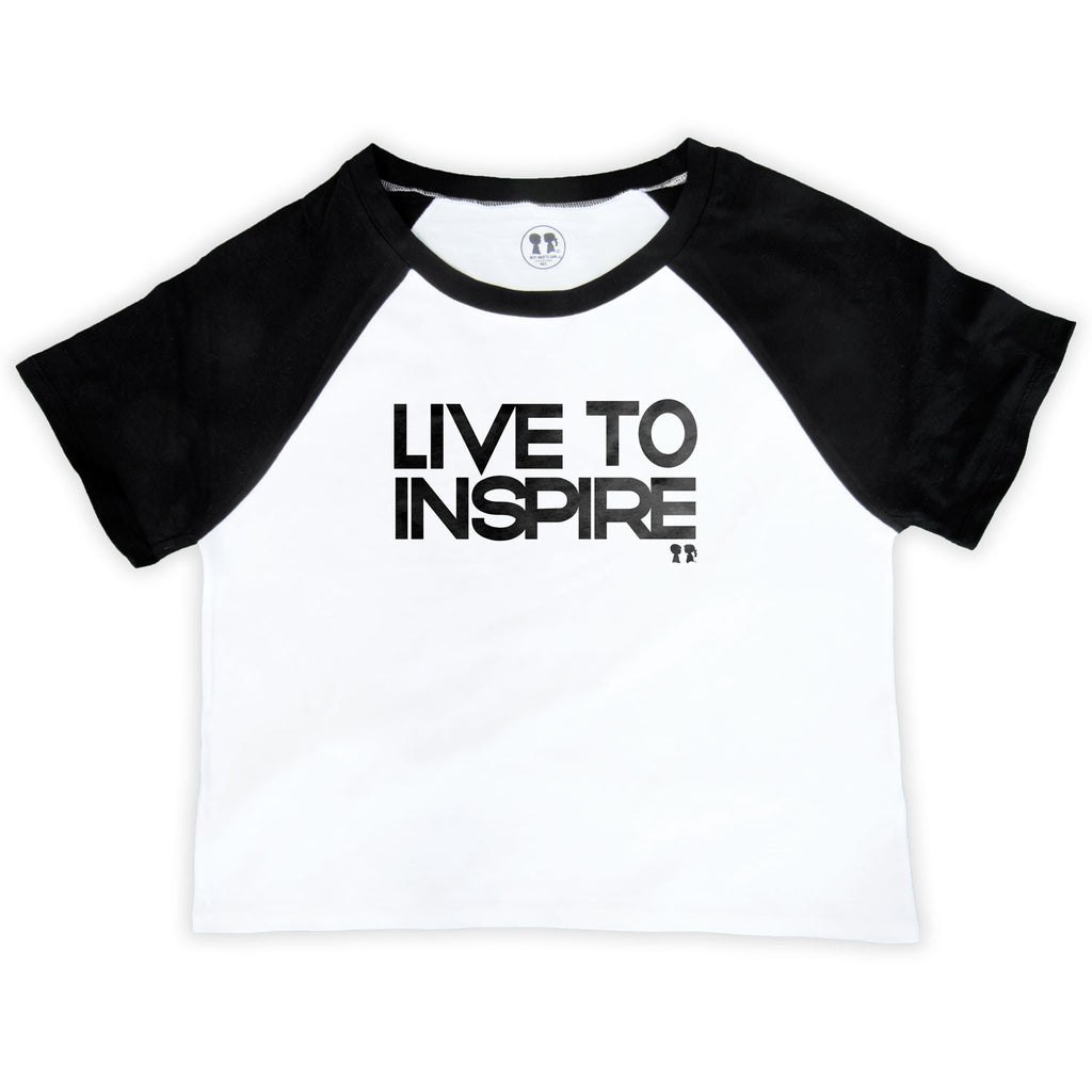 Live to Inspire Raglan Crop Top