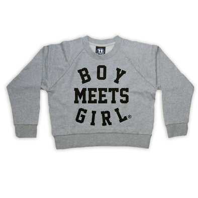 Study Date Crop Sweatshirt (Grey)