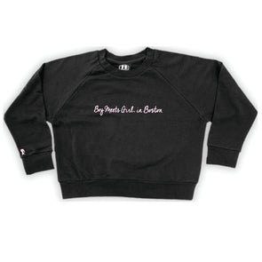 Boy Meets Girl® in Boston Black Crop Sweatshirt