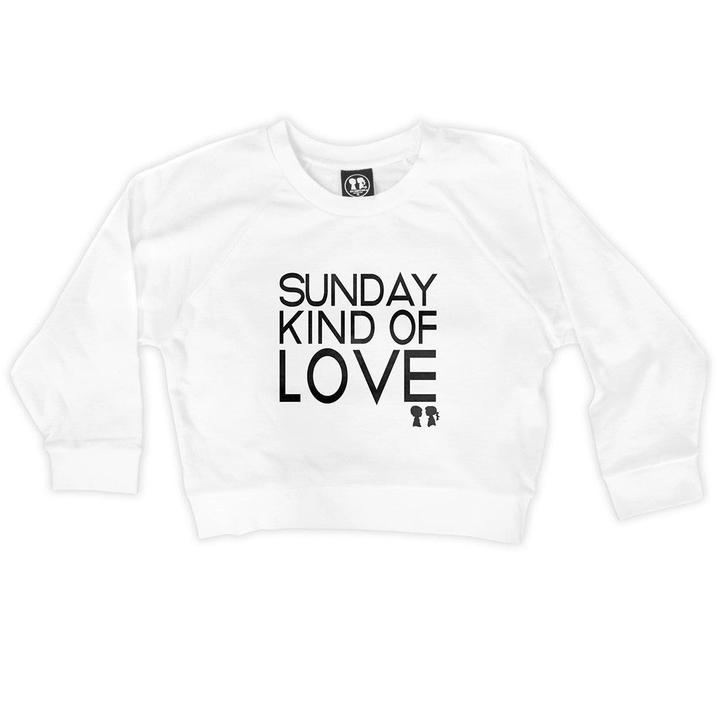 SUNDAY KIND OF LOVE CROP SWEATSHIRT