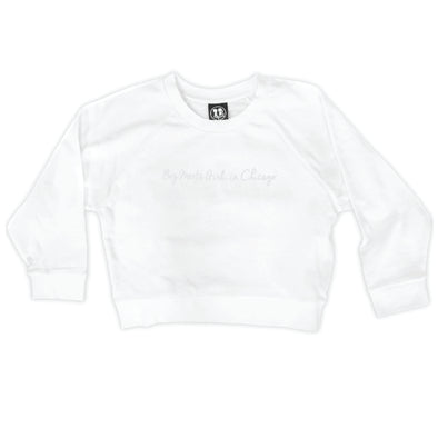 Boy Meets Girl® in Chicago White Crop Sweatshirt