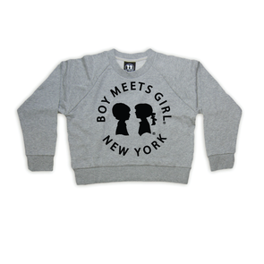 BOY MEETS GIRL® in New York Heather Grey Sweatshirt