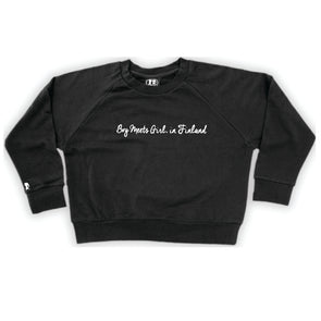 Boy Meets Girl® in Finland Black Crop Sweatshirt