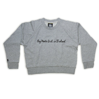 Boy Meets Girl® in Finland Grey Crop Sweatshirt