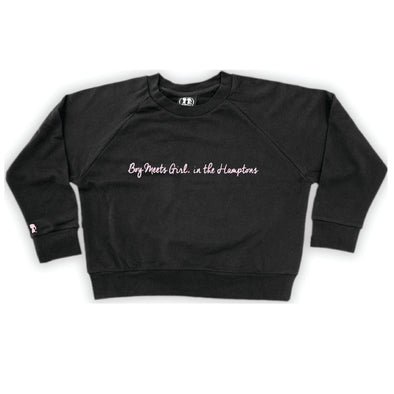 Boy Meets Girl® in the Hamptons Black Crop Sweatshirt