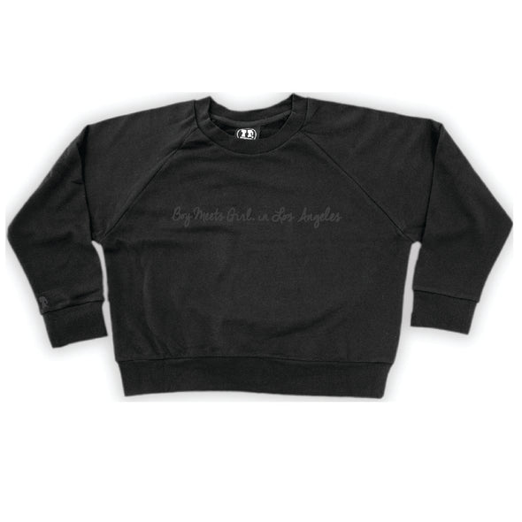 Boy Meets Girl® in Los Angeles Black Crop Sweatshirt