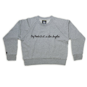 Boy Meets Girl® in Los Angeles Grey Crop Sweatshirt