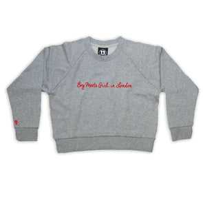 Boy Meets Girl® in London Grey Crop Sweatshirt