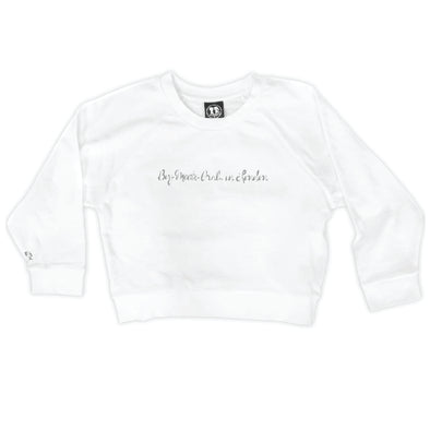 Boy Meets Girl® in London White Crop Sweatshirt