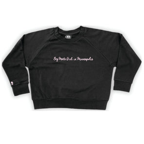 Boy Meets Girl® in Minneapolis Black Crop Sweatshirt