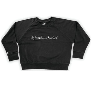 Boy Meets Girl® in New York Black Crop Sweatshirt