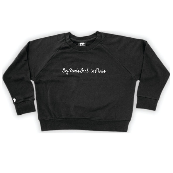 BOY MEETS GIRL® Location Crop Sweatshirt