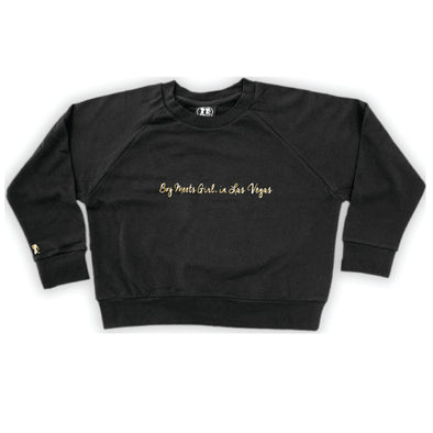 Boy Meets Girl® in Las Vegas Black Crop Sweatshirt