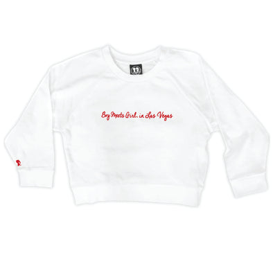 Boy Meets Girl® in Las Vegas White Crop Sweatshirt