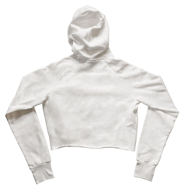BOY MEETS GIRL® UNEXPECTED 2019 Recycled White HoodieBOY MEETS GIRL® UNEXPECTED 2019 Raw Edge Recycled White Hoodie