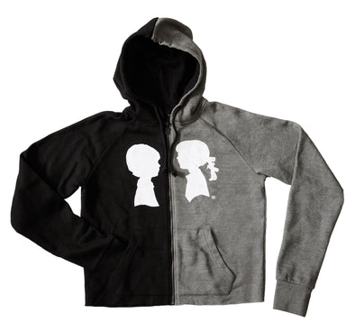 BOY MEETS GIRL® Half & Half Recycled Yarn Coco Hoodie