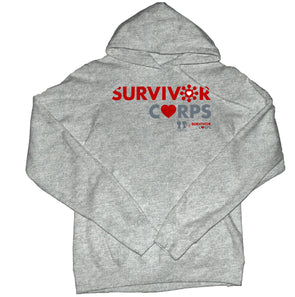 BOY MEETS GIRL® x SURVIVOR CORPS Heather Grey Pullover Hoodie