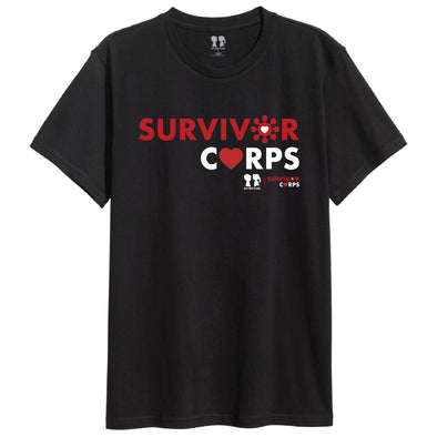 BOY MEETS GIRL® x SURVIVOR CORPS Black Unisex Crew T-Shirt