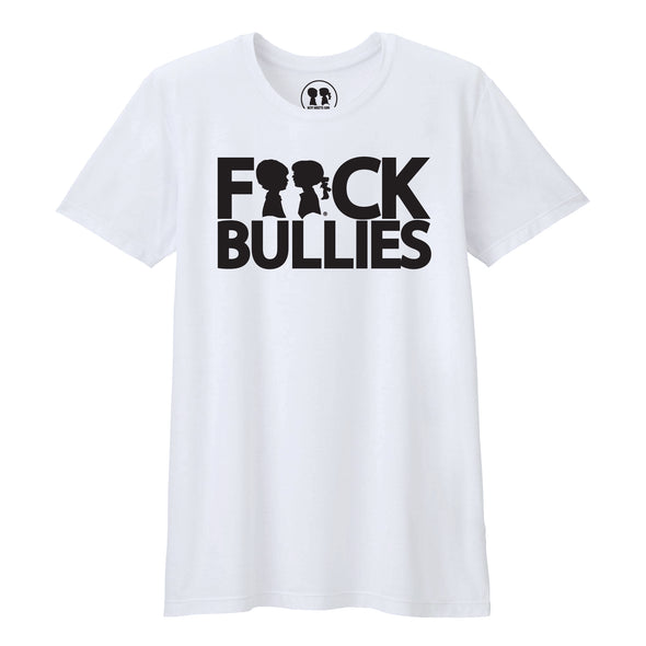 BOY MEETS GIRL® F**ck Bullies White Unisex T-Shirt