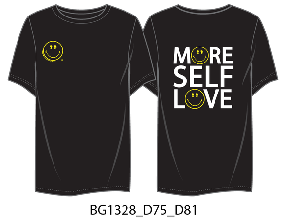 BOY MEETS GIRL®️ BLACK LABEL X SMILEY®️ ORIGINALS More Self Love Tee