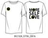 BOY MEETS GIRL®️ BLACK LABEL X SMILEY®️ ORIGINALS White More Self Love Tee