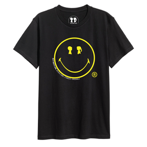 BOY MEETS GIRL®️ BLACK LABEL X SMILEY®️ ORIGINALS Black Oversized Happy Tee