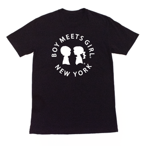 BOY MEETS GIRL® in New York Black Unisex Tee