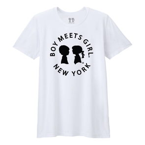BOY MEETS GIRL® in New York White Unisex Tee